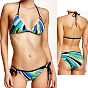 🆕List! Trina Turk Sea Stripe Tasseled Bikini! NEW
